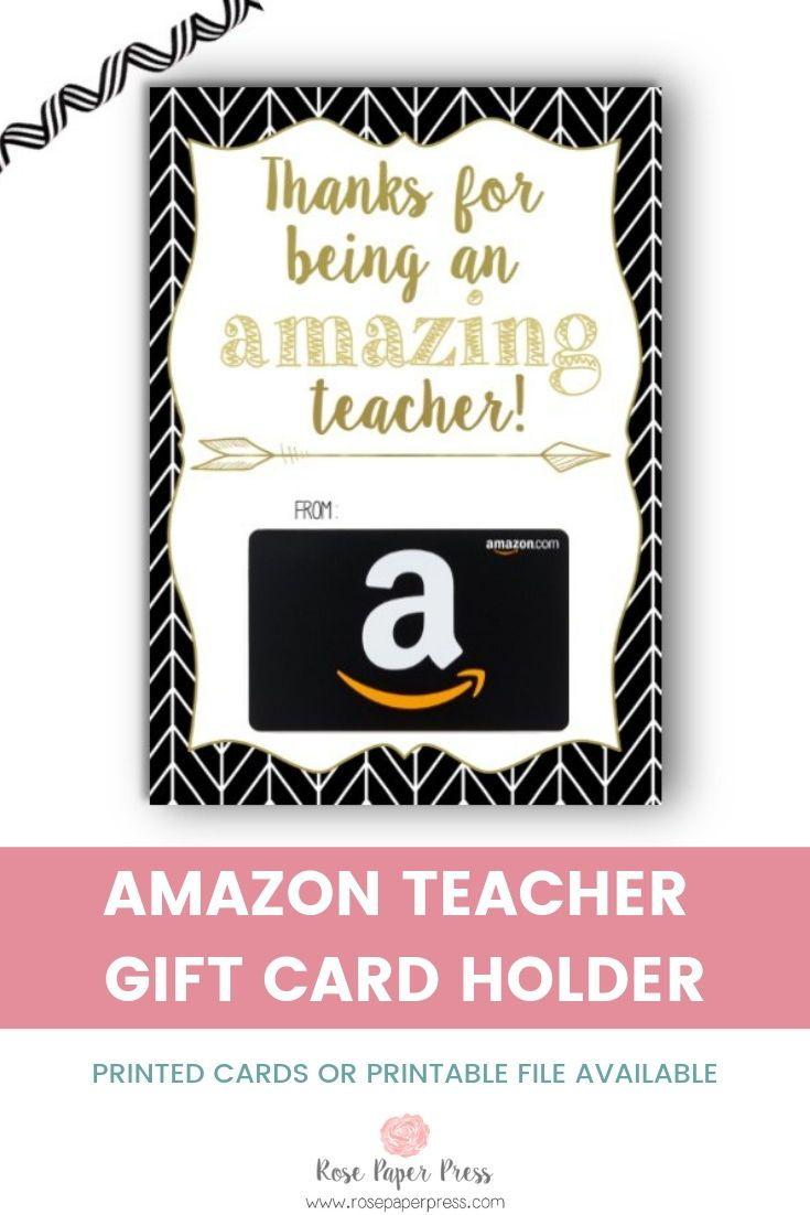 Amazon Teacher Appreciation Herringbone Gift Card Holder ...