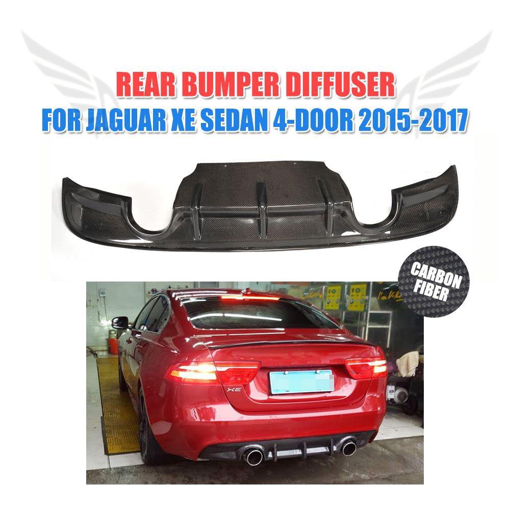 Carbon Fiber Rear Bumper Diffuser Chin Lip Spoiler Fit For Jaguar