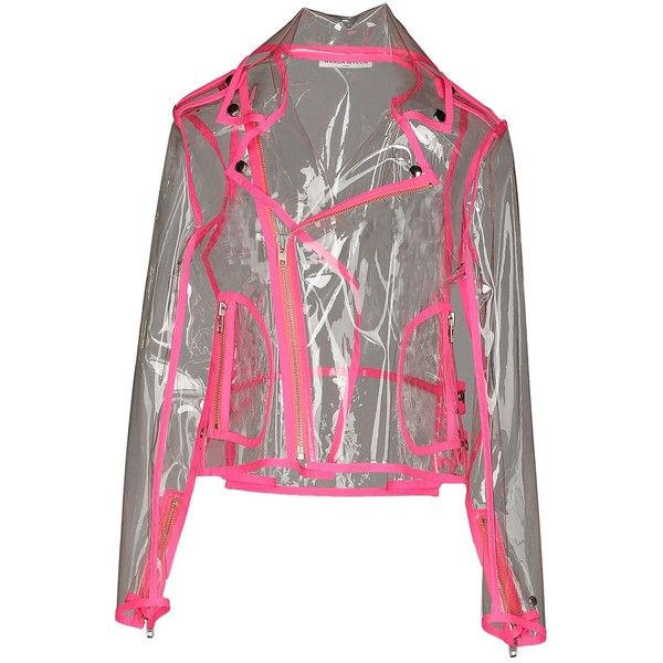 Wanda Nylon Jacket ($400) ❤ liked on Polyvore featuring outerwear, jackets, fuchsia, waterproof jacket, zip jacket, biker style jacket, nylon jacket and logo jackets