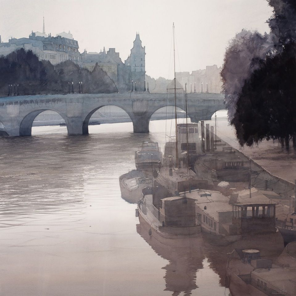 Paris le Pont Neuf - Charles Villeneuve