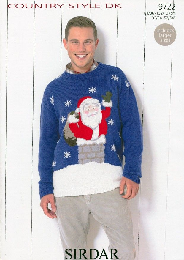 Santa Claus Sweater In Sirdar Country Style Dk 9722 Santa