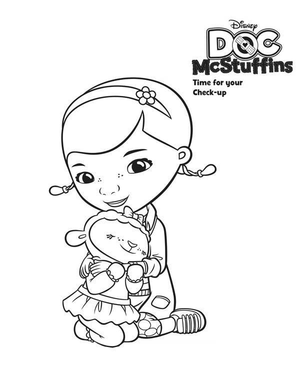 Lambie Love Doc Mcstuffins Coloring Page Netart Doc Mcstuffins Coloring Pages Coloring Pages Doc Mcstuffins