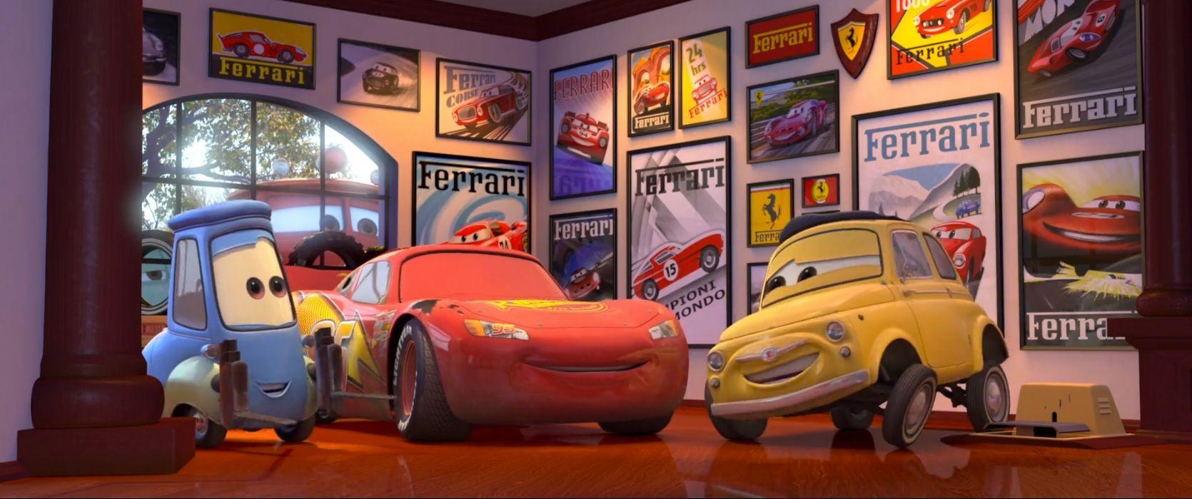 Ferrari Posters In Cars 2006 Ferrari Disney Pixar Cars Pixar Cars Disney Cars
