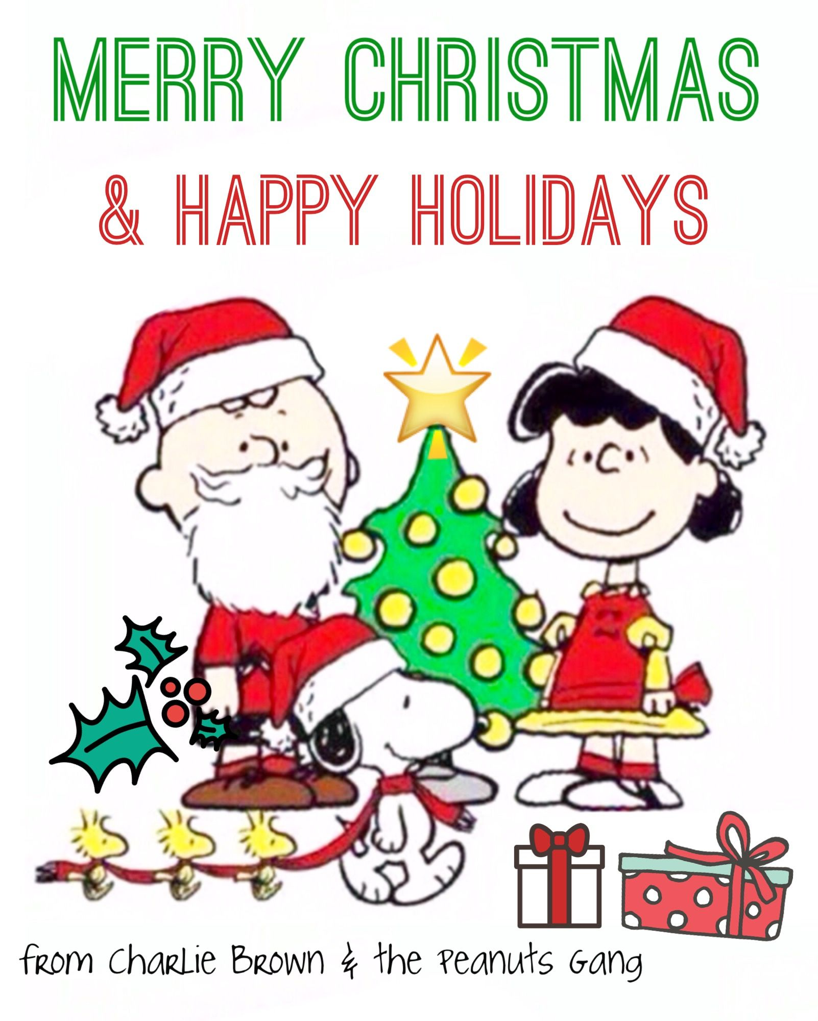 Merry Christmas and Happy Holidays, from Charlie Brown and the ...