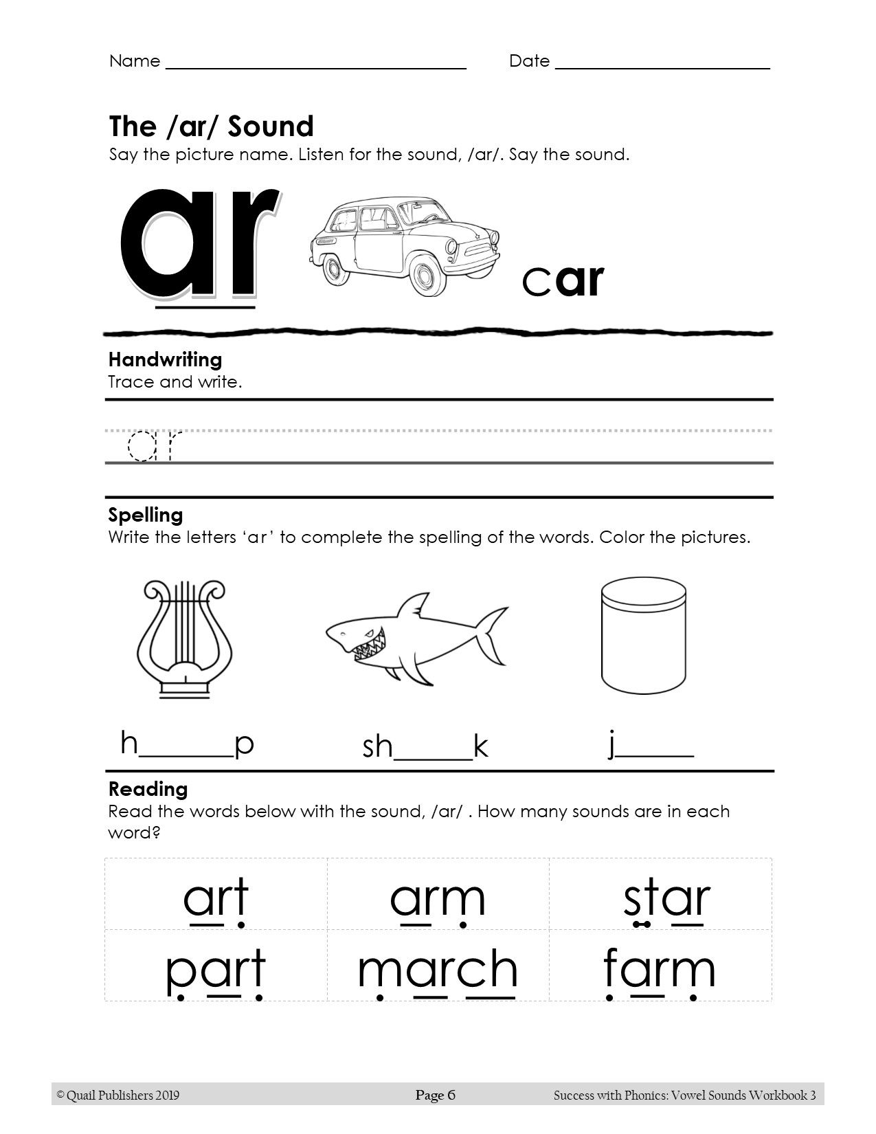 Vowel Sounds Workbook 3