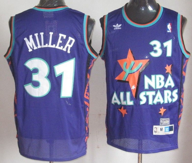 Retro Reggie Miller #31 Indiana Pacers Swingman Basketball Jersey Stitched #C