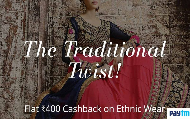 The Traditional Twist!! Flat Rs.400 Cashback On Ethnic Wear Shop Now @ http://bit.ly/2cQpMUp