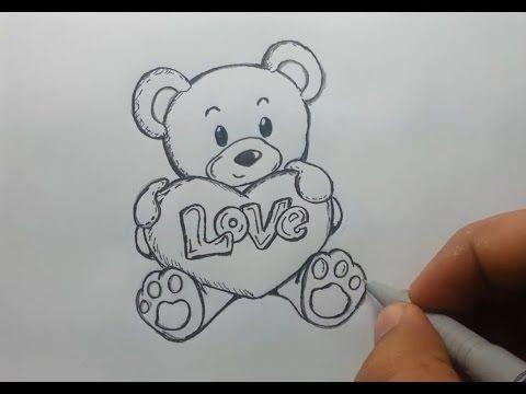 desenho livre ursinho love / Drawing little bear - YouTube