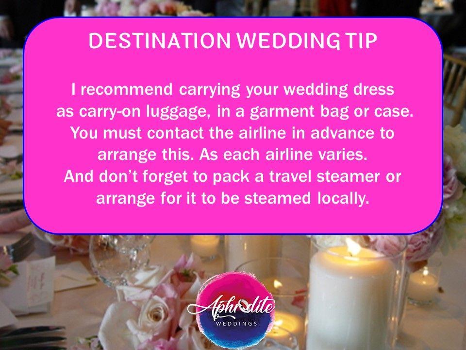 Carrying Wedding Dress Tip Destination Wedding Planner Wedding Tips Stress Free Wedding
