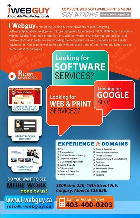 I Web Guy Calgary Leading Web Design Company Calgary Web Design Company Web Design Web Site Development