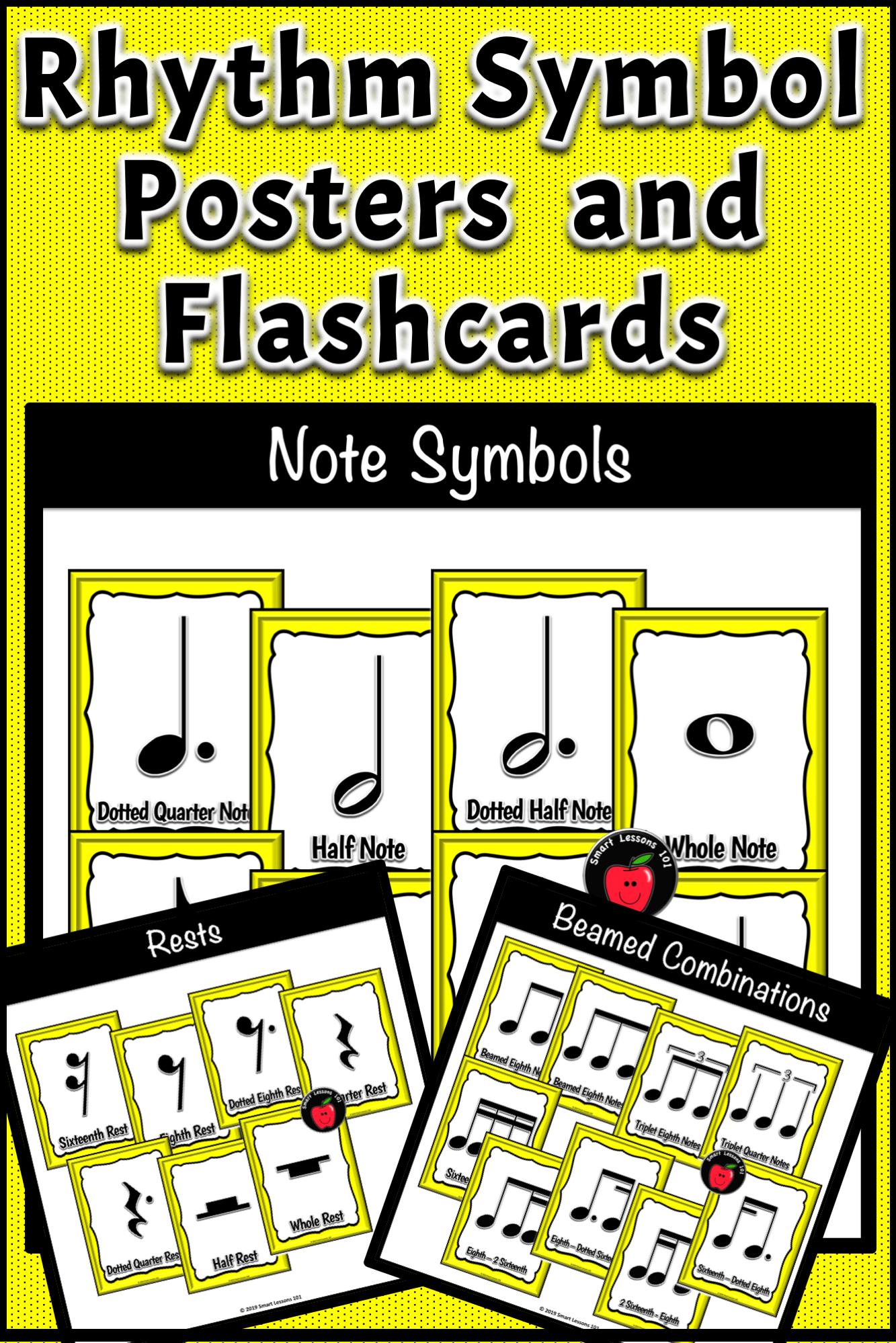 Rhythm Symbol Posters Classroom Decor Music Bulletin