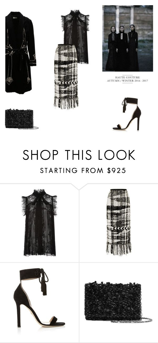 """""""BLACK NOBLESSE"""" by canvas-moods ❤ liked on Polyvore featuring Elie Saab, Oscar de la Renta and Dries Van Noten"""