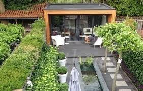 Afbeeldingsresultaat voor werkruimte gastenverblijf bouwen tuin