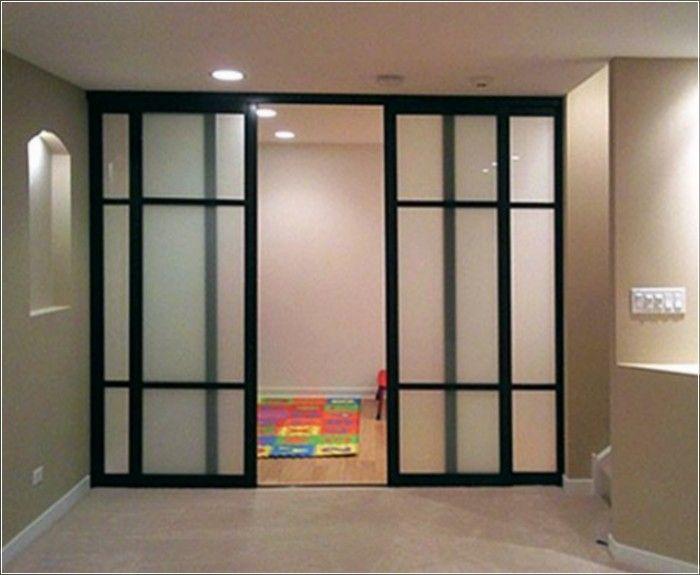 Interior Sliding Glass Doors, Wall Partitions, Barn doors Basement - fabriquer porte coulissante japonaise