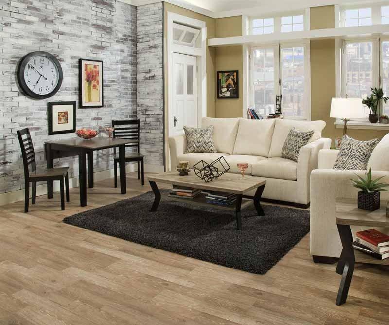 Simmons Upholstery Elan Linen 2 Piece Queen Sleeper Sofa Set