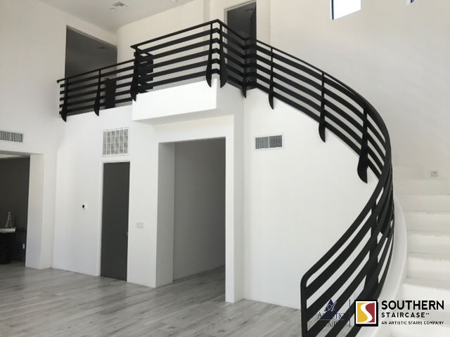 Best Wrought Iron Stair Railing In 2020 Curved Staircase 400 x 300