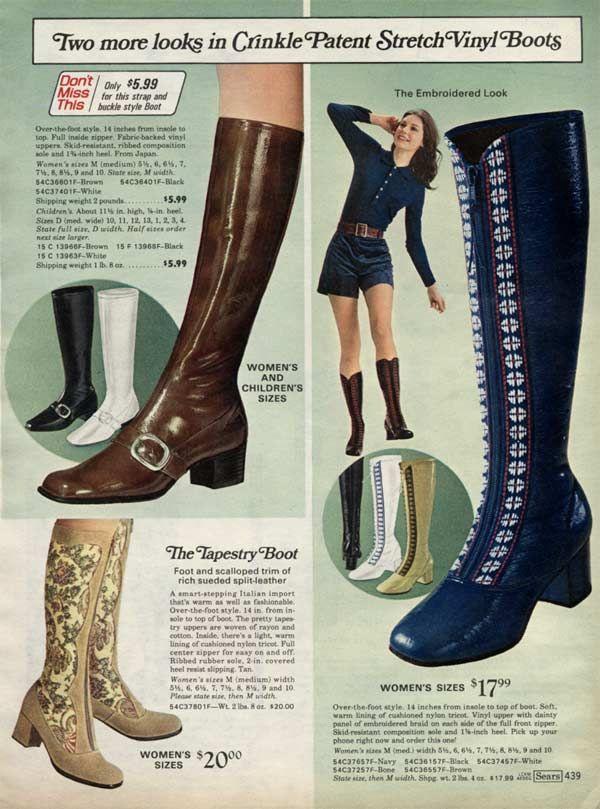 Retro Boots Stretch Vinyl blue