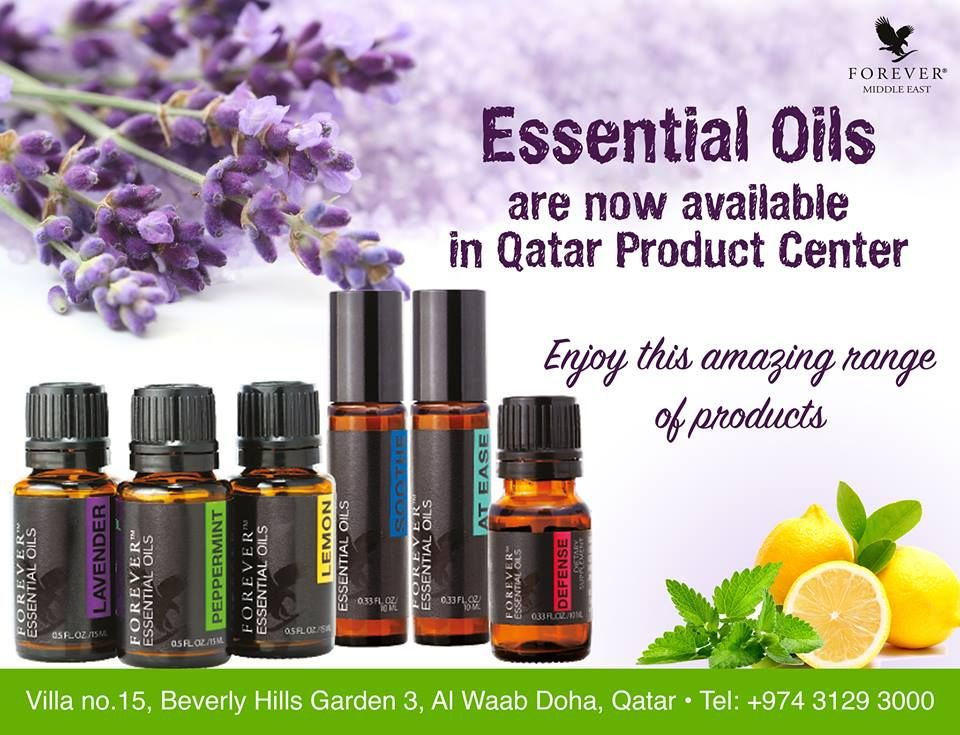 Essential Oils Now available in Qatar Product Center Enjoy