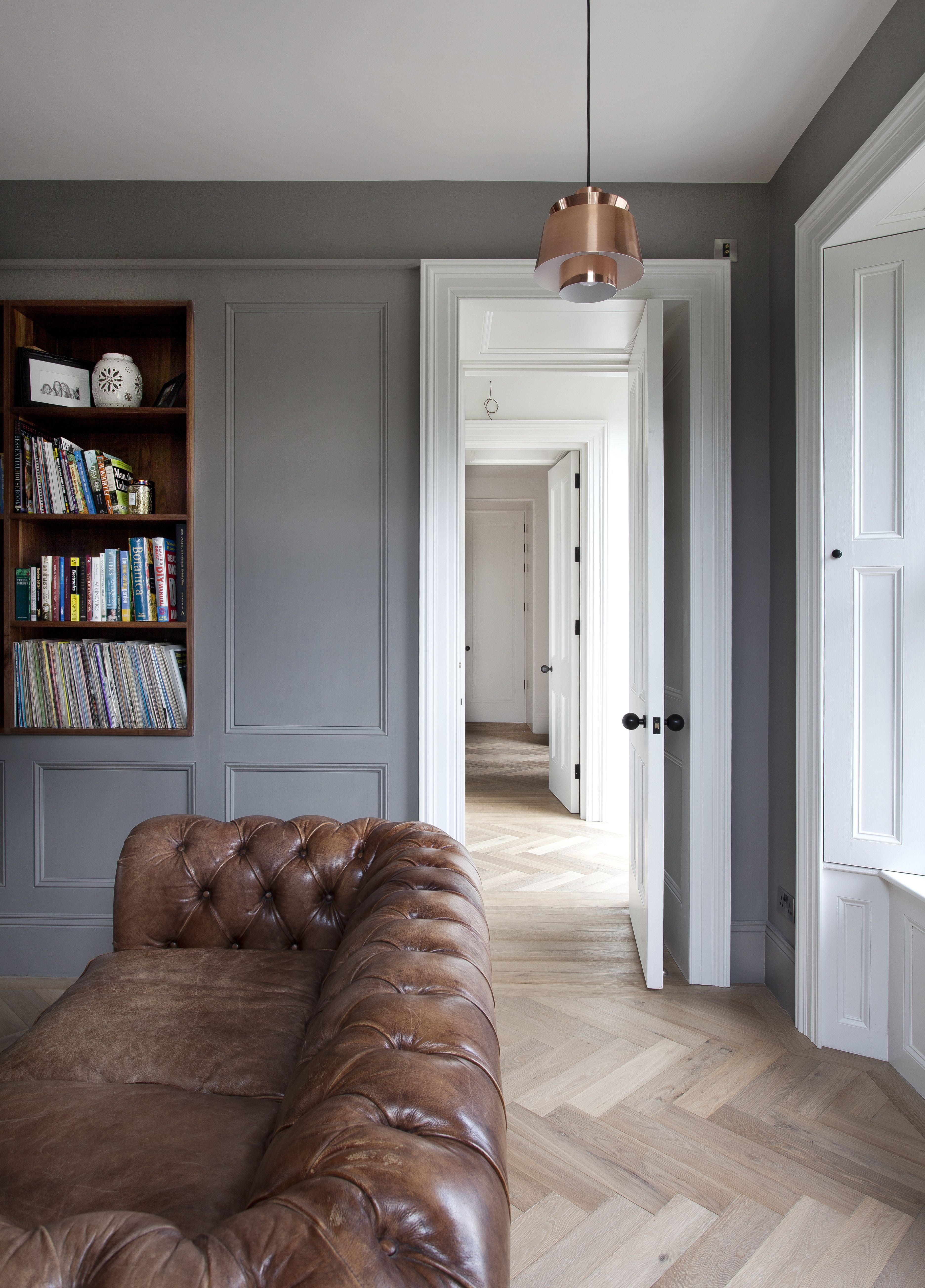 Wood Paneled Room Design: French Oak Herringbone, Featured In Beautiful Irish