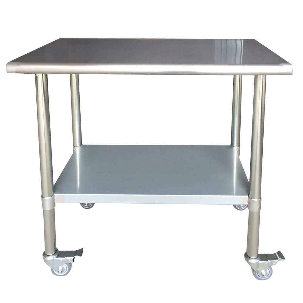 sportsman stainless steel kitchen utility table with