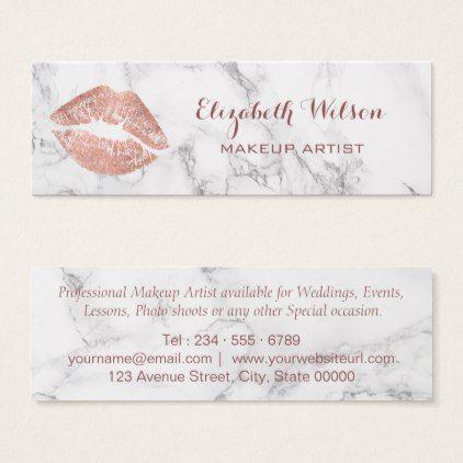 Makeupartist businesscards professional makeup artist rose gold makeupartist businesscards professional makeup artist rose gold kiss mini business card colourmoves