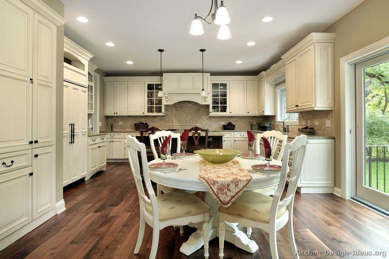 Traditional Antique White Kitchen Cabinets #88 (Kitchen-Design-Ideas