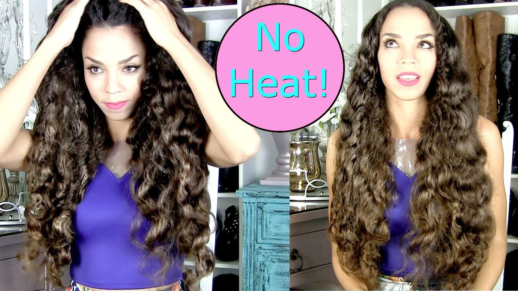 No Heat Curls Tutorial Soft Without Hair Rollers