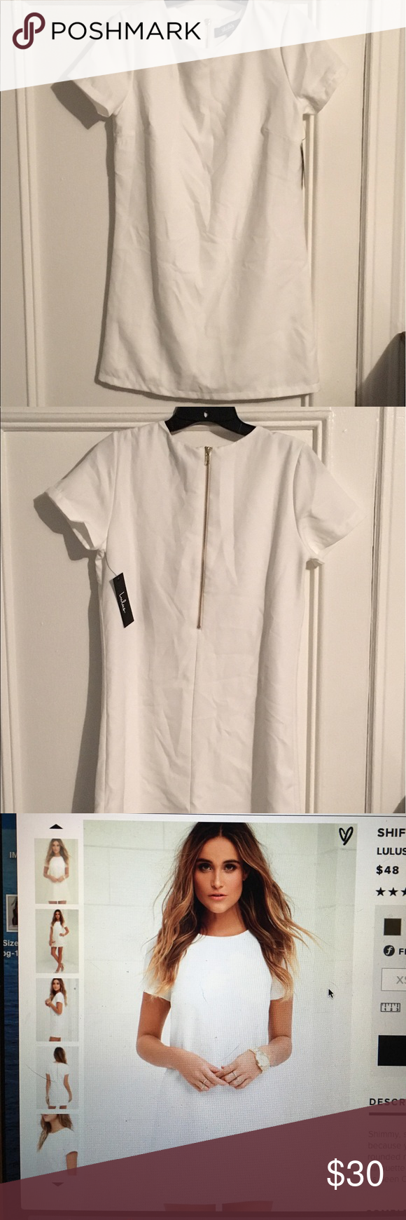 88e77e0f82840 Shift and Shout ivory Shift Dress from Lulu s Super comfortable ivory dress  from lulus. Brand new