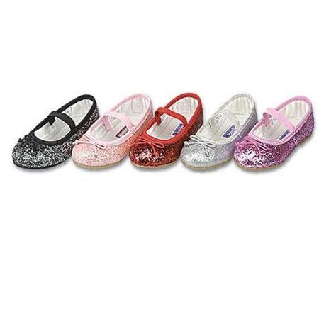 Little Girls Pink Glitter Slip On Dress Shoes 3 | Red dress shoes ...