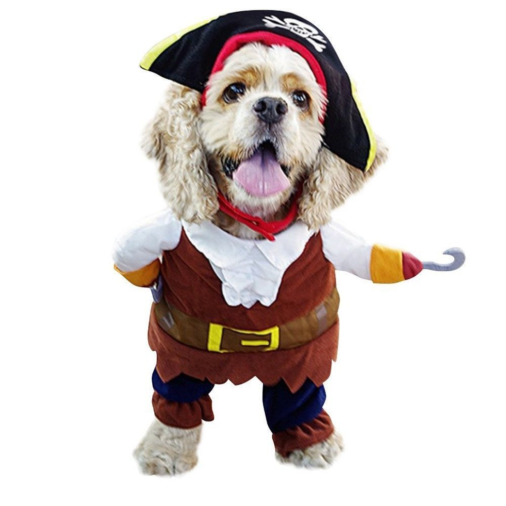 Walking Pirate Dog Cat Costume Dog Pirate Costume Pet Costumes