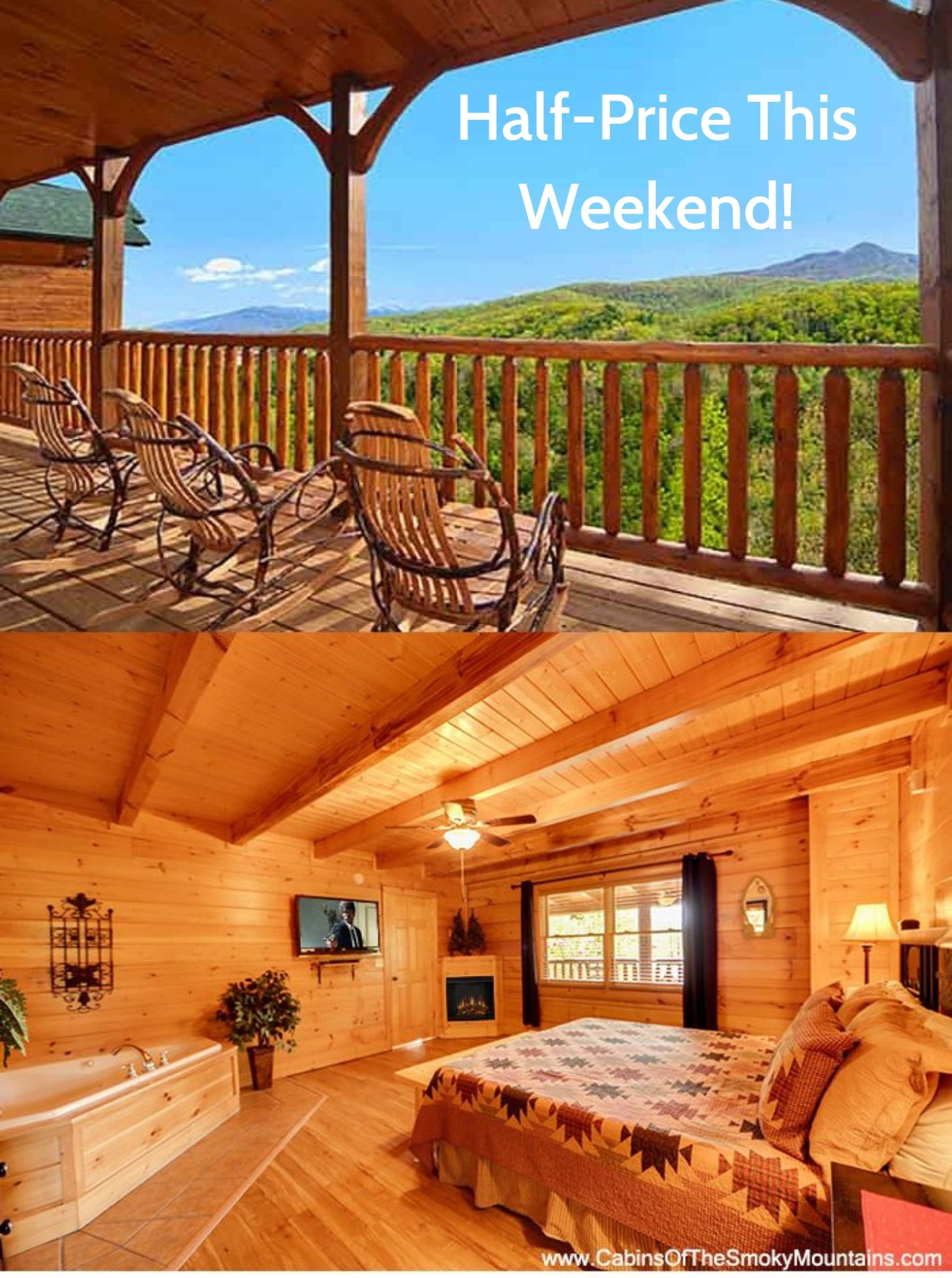 Half Price This Weekend Gatlinburg Cabins Gatlinburg Cabin Rentals Luxury Cabin Rental
