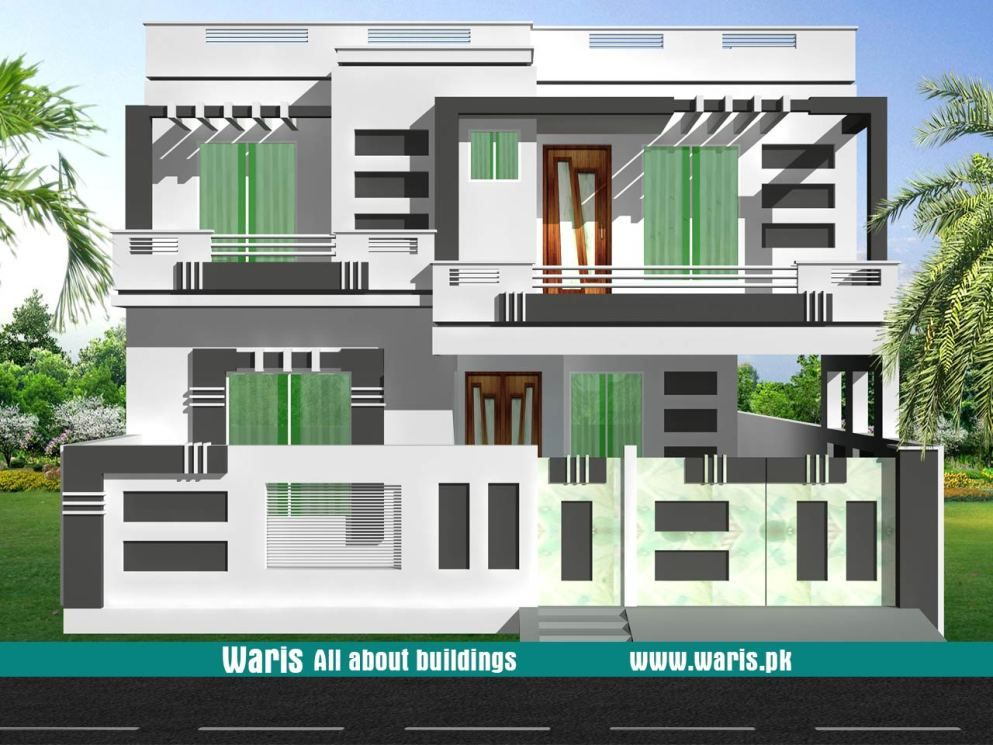 10 Marla 35x65 House Designs In Pakistan Architecture House