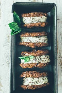 Double Chocolate Mint Chip Ice Cream Sandwiches (paleo, gluten free, grain free…