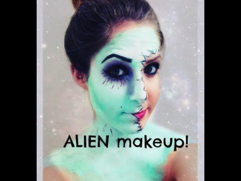 easy alien makeup tutorial halloween 2014 alienmakeup