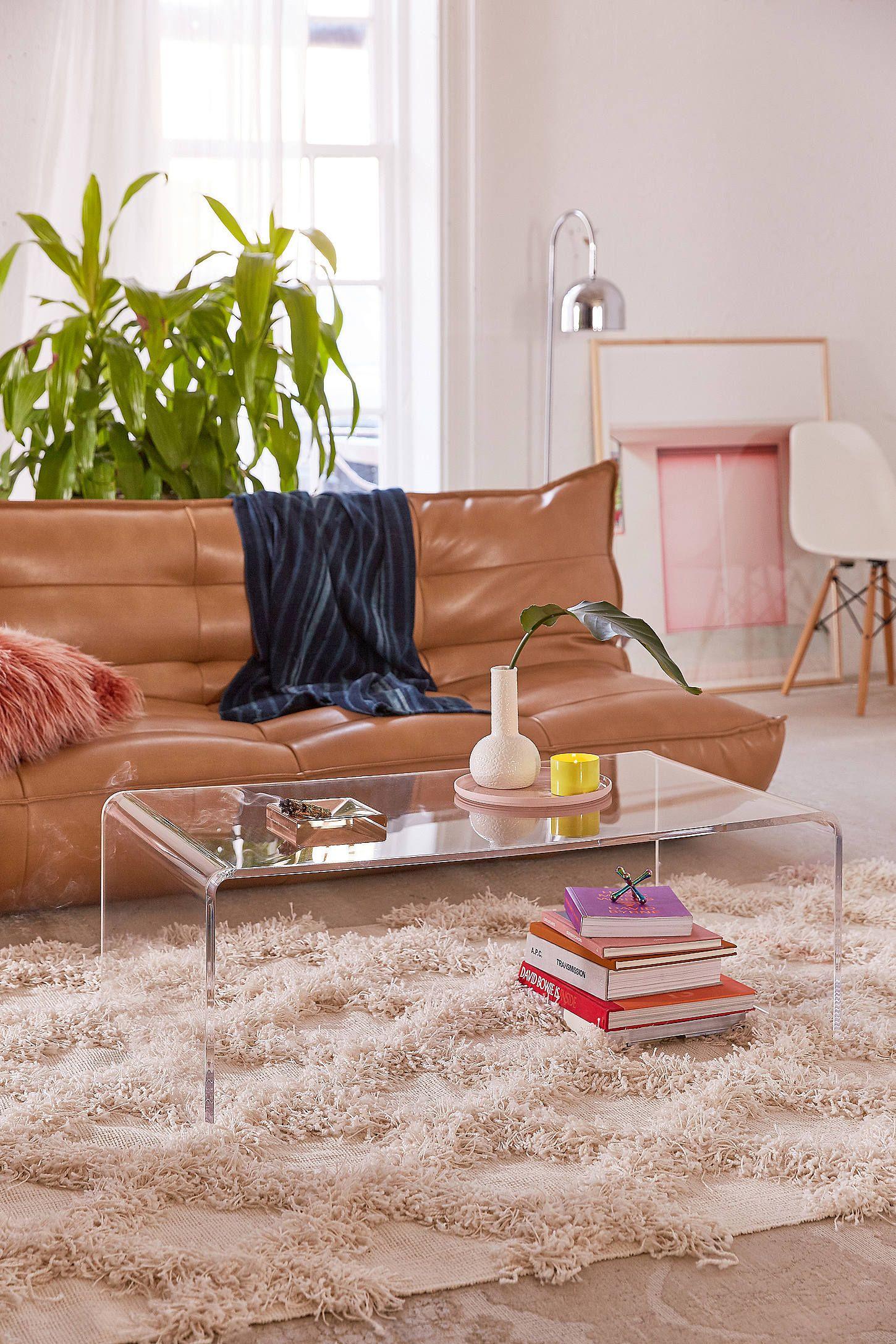 Miotto acrylic curve coffee table in interior decor ideas