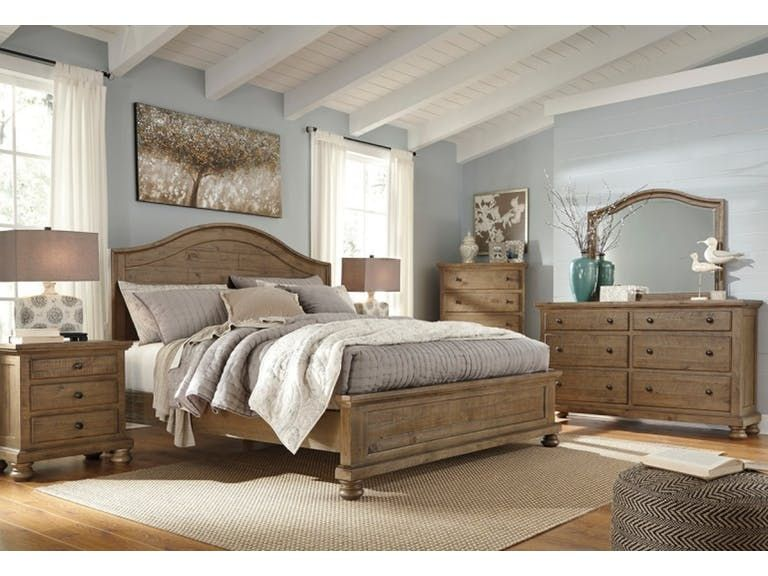 Ashley Trishley 8 Piece Queen Bed Set B659 31 36 46 57 54 96 93 2 In Portland Oregon Brown Furniture Bedroom Master Bedroom Set Light Brown Bedrooms