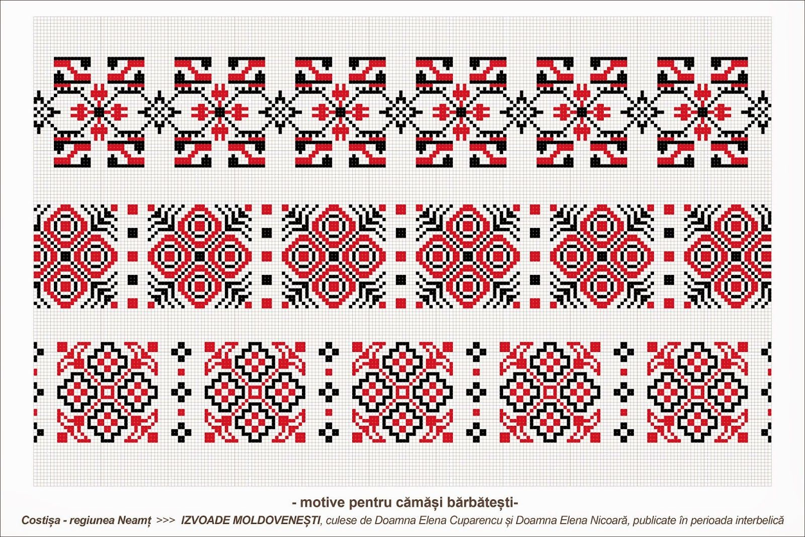 Semne Cusute Romanian Traditional Motifs Moldova Neamt Costisa