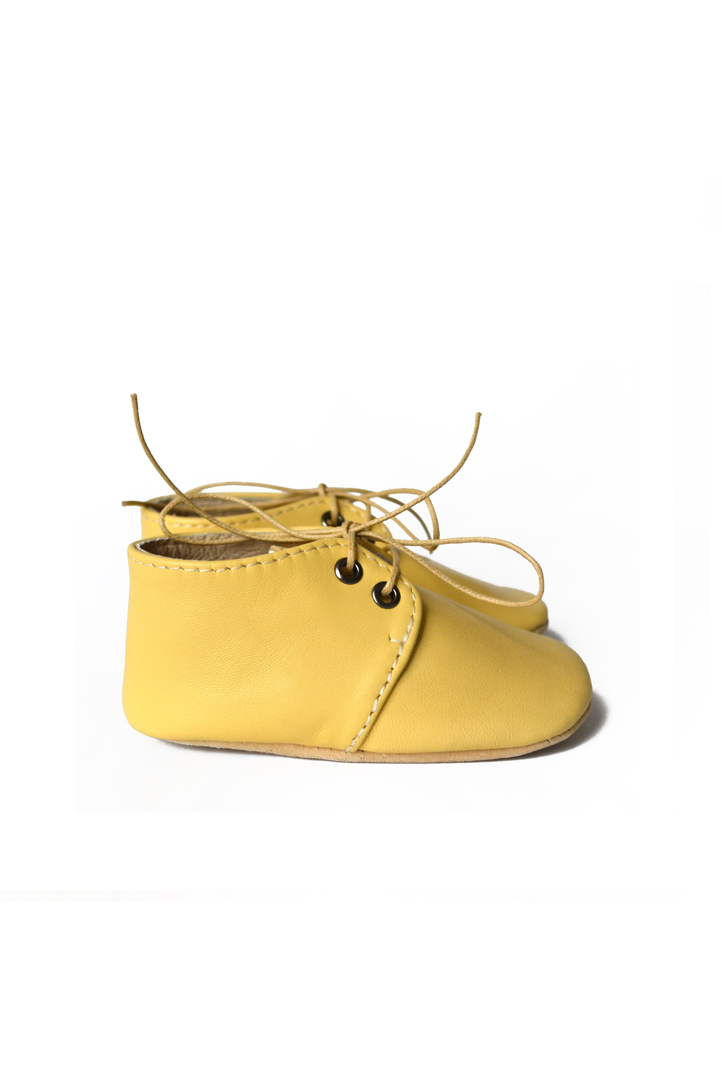 Yellow baby shoes Leather baby oxfords Uni baby shoes Baby boy