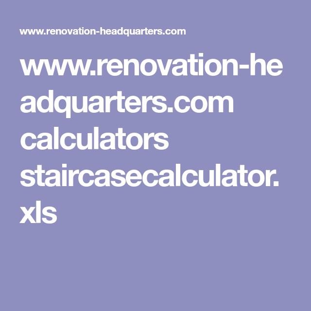 www renovation headquarters com calculators staircasecalculator xls