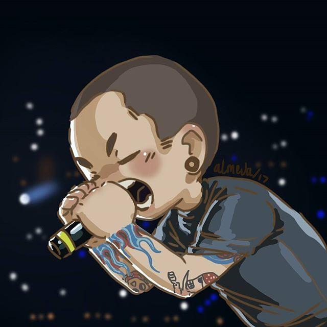 Very Cute Anime Chester Bennington Chesterbennington Linkinpark Lpfanart Lpchibi Digitalart Lpmx Linkin Park Artistas Bandas De Rock