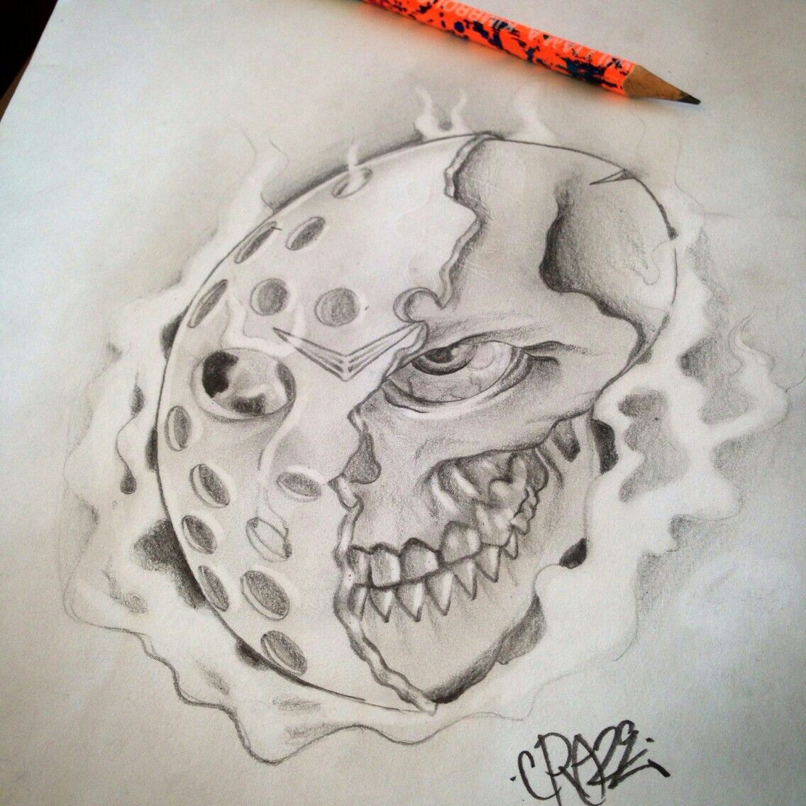 Pin by The Slasher on Friday the 13th Halloween drawings
