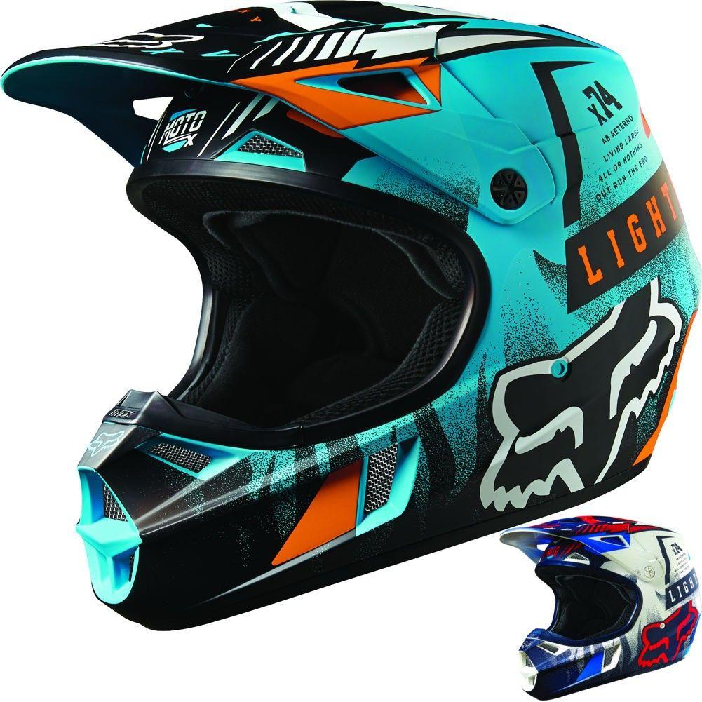 Fox Racing V1 Vicious Youth Motocross Helmets Dirt Bike Riding Gear Motocross Helmets Dirt Bike Gear