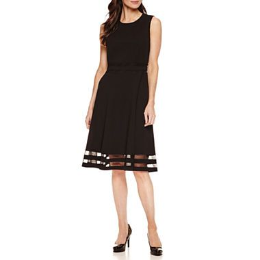 9b8793d052d64 Love this dress for the holidays and all year. #sponsored jcpenney.com |  Liz Claiborne Sleeveless Fit & Flare Dress