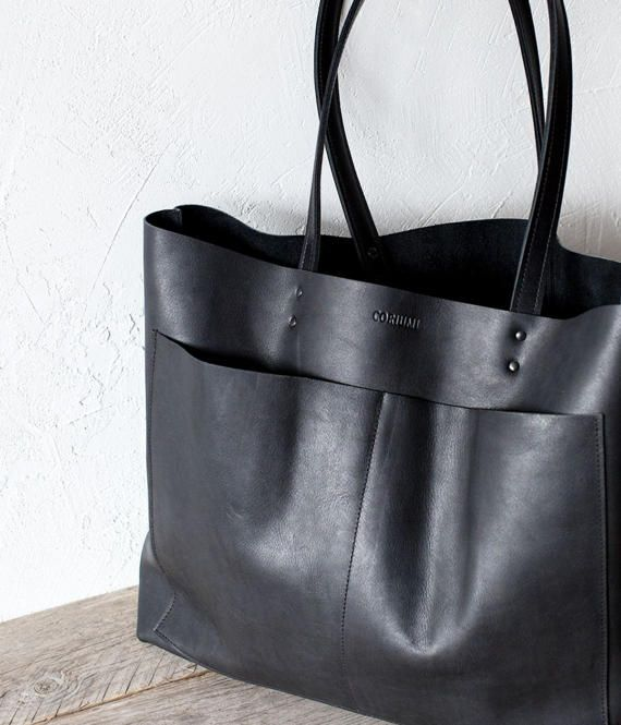 Back To School Large Black Leather Tote Bag No Lpb 1011