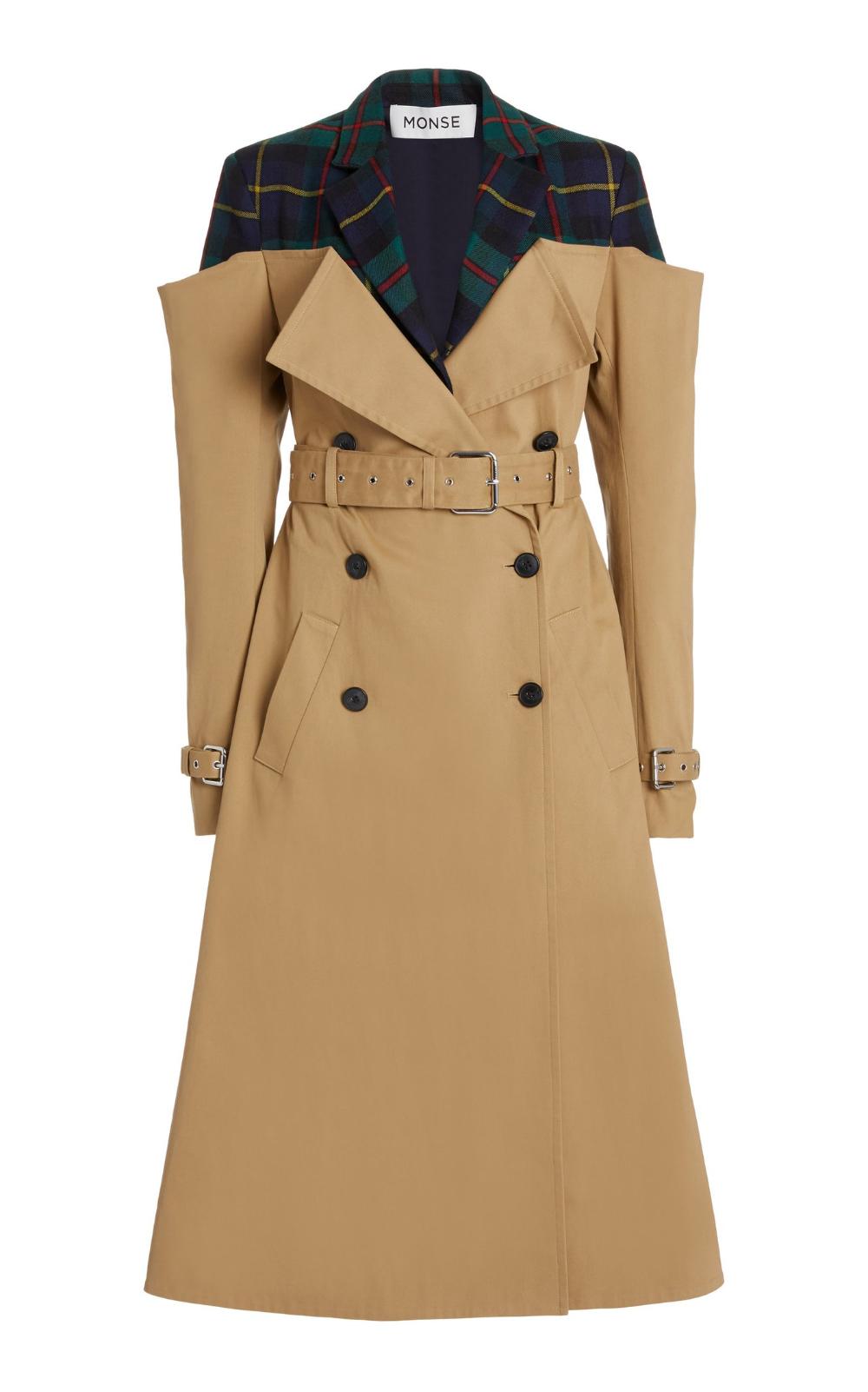 Deconstructed Cotton Gabardine Trench Coat By Monse Moda Operandi Winter Coat Trends Coat Trends Coat
