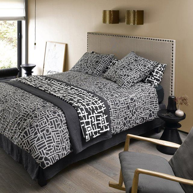 tete de lit la redoute simple la redoute interieurs tte de lit droite recouvrir gatine la. Black Bedroom Furniture Sets. Home Design Ideas