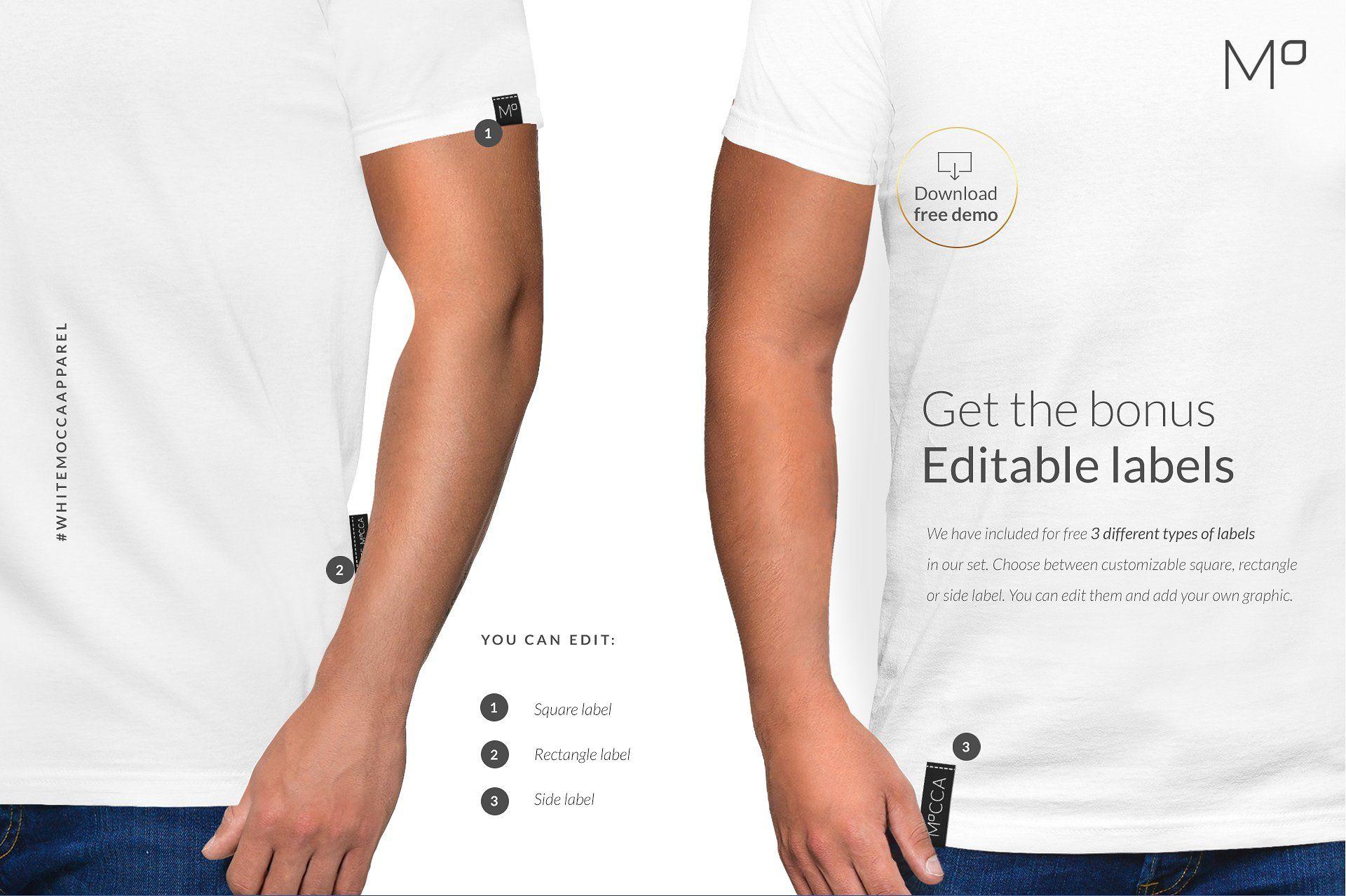 Download Men T Shirt Mockups Set Free Demo Shirt Mockup Selling Photos Mens Tshirts