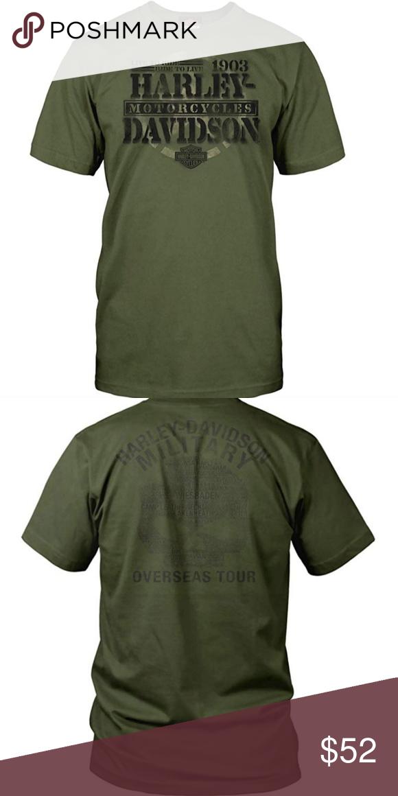 HARLEY-DAVIDSON Military Overseas Tour Honor Mens Graphic Short-Sleeve Tee