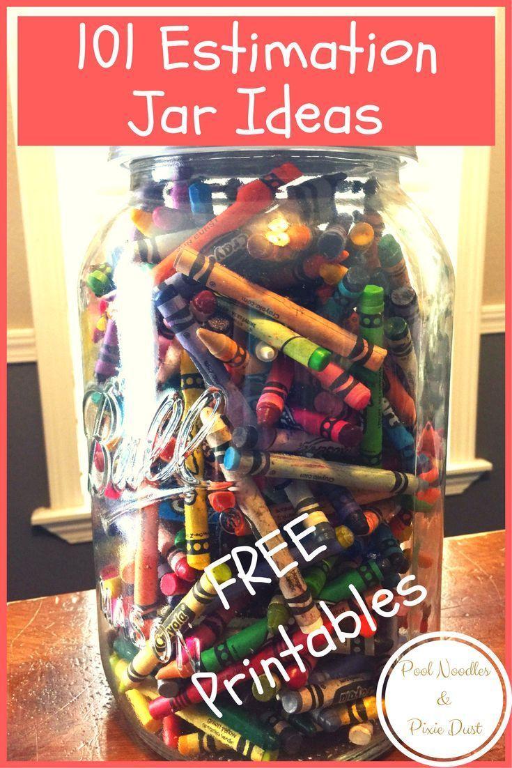 Classroom Jar Ideas : Estimation jar ideas free printables sentences and math