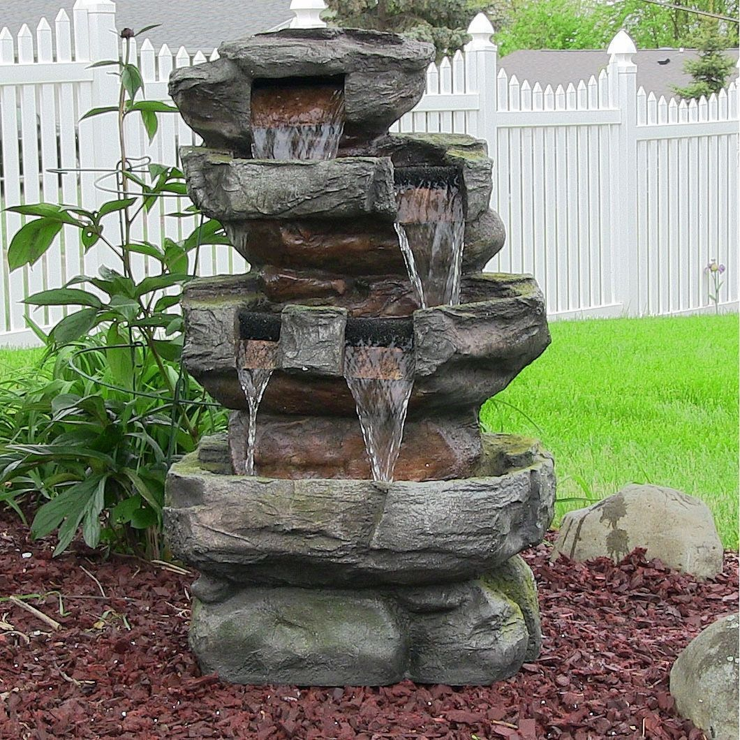 Electric Garden Fountain Wiring Diagram For Professional Rv Solar 13 Visio Emprendedorlink Sunnydaze Outdoor Tiered Stone Products Pinterest Rh Com Fountains